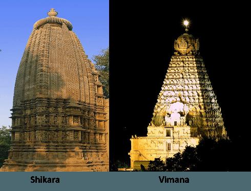 Shikara vs Vimana