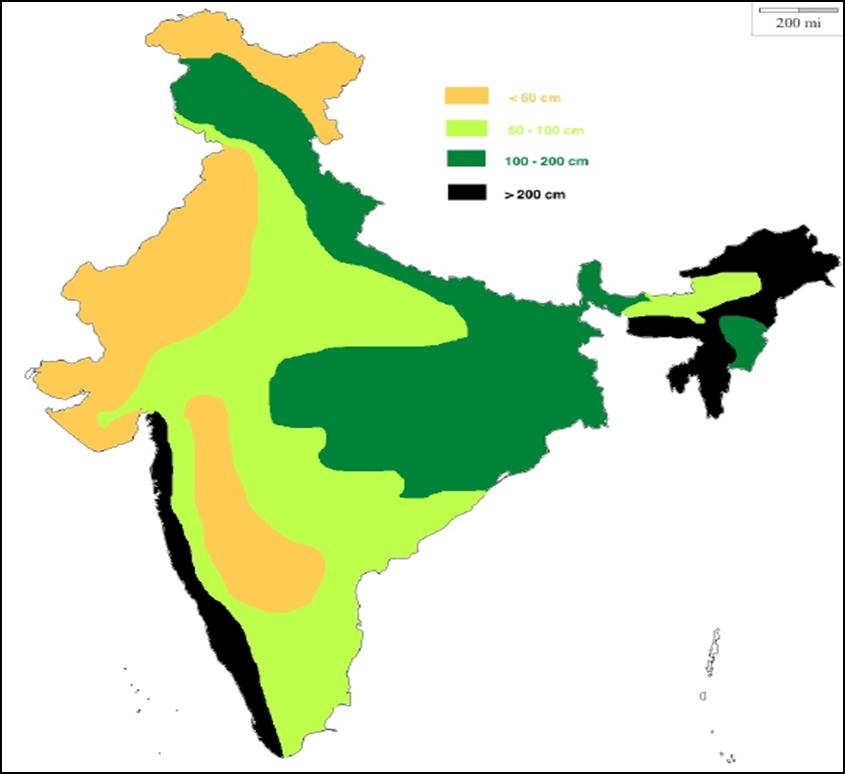 Rainfall Distribution India