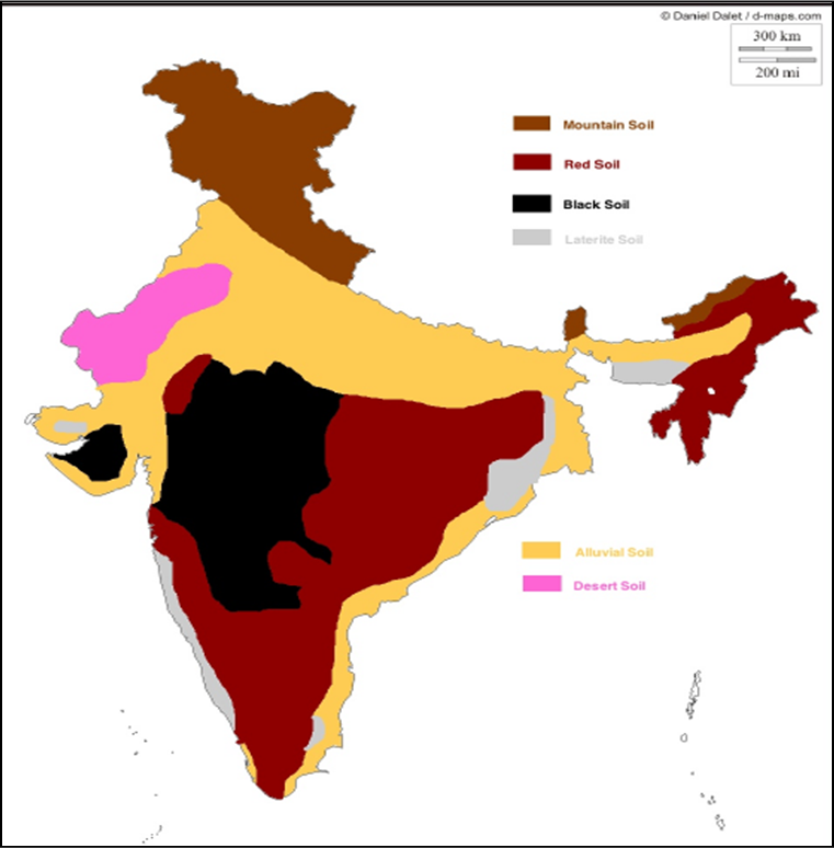 major soils of india