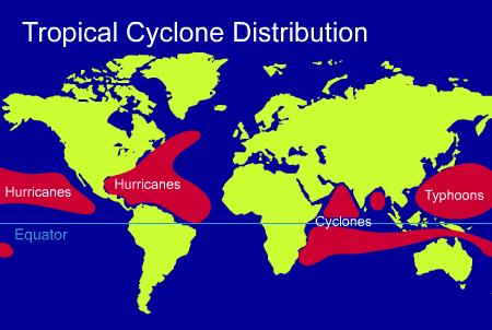 Tropical Cyclone Distribution