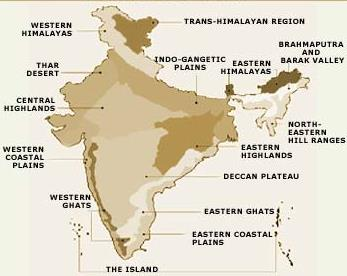 Geographical regions of India