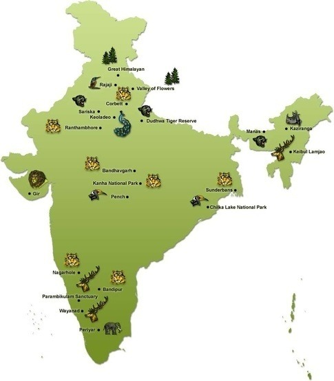 National Parks & Wildlife Sanctuaries in India